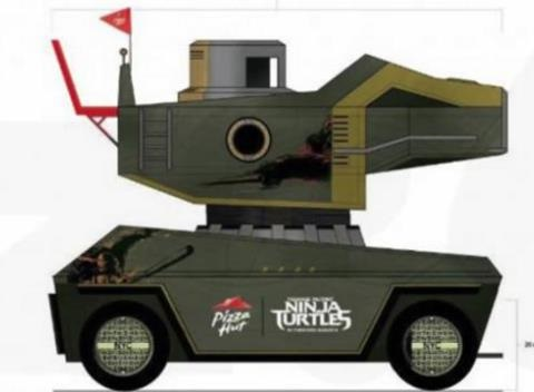 News video: Fully-Functional 'Teenage Mutant Ninja Turtles' Pizza Thrower Arrives at Comic-Con