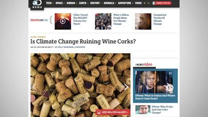 News video: Climate Change Is Affecting Wine Cork Quality